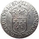 ½ Écu - Louis XIV (1st type) – reverse