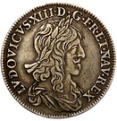 ½ Écu - Louis XIII (1st portrait) – obverse