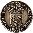½ Écu - Louis XIII (1st portrait) – reverse