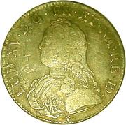 Écu de Béarn aux branches d'oliviers - Louis XV – obverse