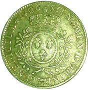 Écu de Béarn aux branches d'oliviers - Louis XV – reverse