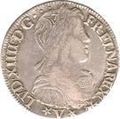 ½ Écu - Louis XIV (Navarre) – obverse