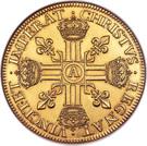 Dix Louis d'or, col nu - Louis XIII – reverse