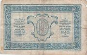 50 Centimes - Trésorerie aux Armées – reverse