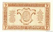 1 franc - Trésorerie aux Armées (type 1917) – reverse