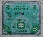 2 Francs - Allied Military Currency – obverse