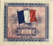 5 francs - Allied Military Currency – reverse