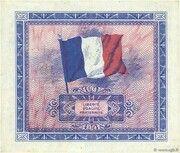 10 francs Drapeau (type 1944) – reverse