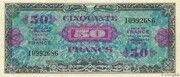 50 francs Drapeau (type 1944) – obverse