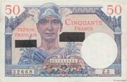 50 francs Suez (type 1956) – obverse