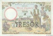 1000 francs Algérie (type 1943) – obverse