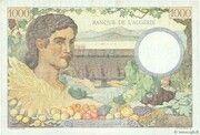1000 francs Algérie (type 1943) – reverse