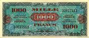 1000 francs Drapeau (type 1944) – obverse