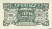 1000 francs Marianne (type 1945, chiffres gras) – reverse