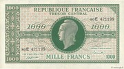 1000 francs Marianne (type 1945, chiffres maigres) – obverse