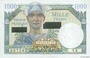 1000 francs Suez (type 1956) – obverse