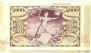 5000 francs Liberté (type 1943) – obverse