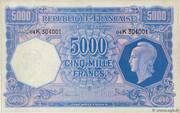 5000 francs Marianne (type 1945) – obverse