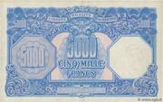5000 francs Marianne (type 1945) – reverse