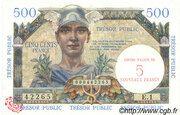 5 NF sur 500 francs Trésor public (type 1960) – obverse