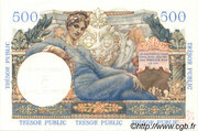 5 NF sur 500 francs Trésor public (type 1960) – reverse