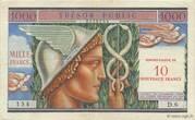 10 NF sur 1000 francs Trésor public (type 1960) – obverse