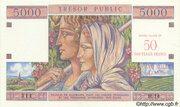 50 NF sur 5000 francs Trésor public (type 1960) – obverse