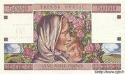 50 NF sur 5000 francs Trésor public (type 1960) – reverse