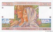 50 francs Trésor public (type 1963) – obverse