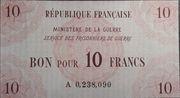 10 francs Service des prisonniers de guerre -  obverse