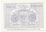 20 Heller (Frankenburg) -  reverse