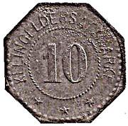 10 Pfennig - Frankenhausen – reverse