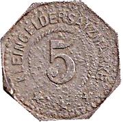5 Pfennig - Frankenhausen – reverse