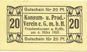 20 Pfennig (Konsum- und Prod. Verein) – obverse
