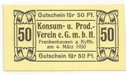 50 Pfennig (Konsum- und Prod. Verein) – obverse