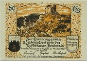 50 Pfennig (Kyffhäuser Series) – obverse