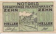 10 Heller (Frankenmarkt) -  obverse
