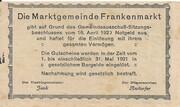 10 Heller (Frankenmarkt) -  reverse