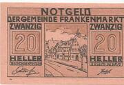 20 Heller (Frankenmarkt) – obverse