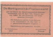 20 Heller (Frankenmarkt) – reverse