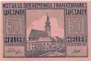 50 Heller (Frankenmarkt) – obverse