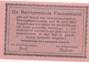 50 Heller (Frankenmarkt) – reverse