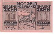 10 Heller (Frankenmarkt) – obverse