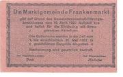 10 Heller (Frankenmarkt) – reverse