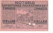 20 Heller (Frankenmarkt) -  obverse