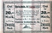 20 Mark (Frankfurter Maschinenbau) – obverse