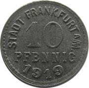 10 Pfennig - Frankfurt am Main – obverse