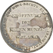 2 Thaler / 3½ Gulden (Opening of the new mint) – obverse