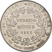 2 Thaler / 3½ Gulden (Opening of the new mint) – reverse