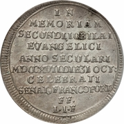 ⅛ Thaler (Reformation) – reverse